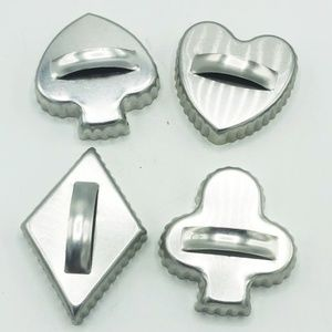 4 Card Suits Metal Cookie Cutters